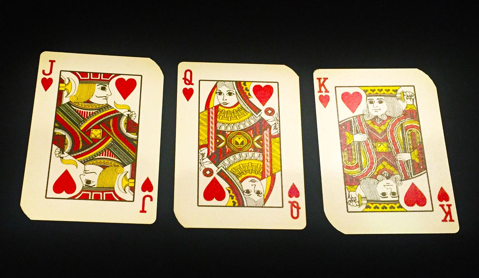 Jack,Queen,Kingの顔の向きとモデル